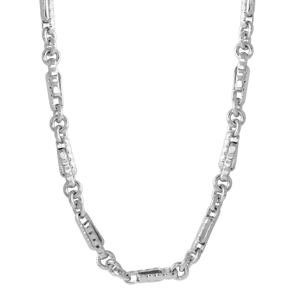 "Men's Sterling Silver 3mm Chain Necklace, 24""-28"""