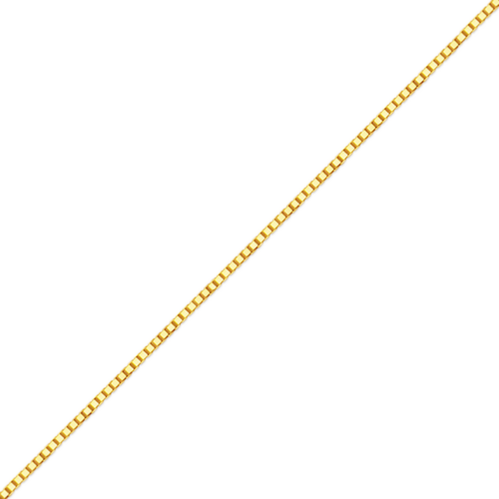 Women's 14k Yellow Gold .8mm Box Chain Necklace