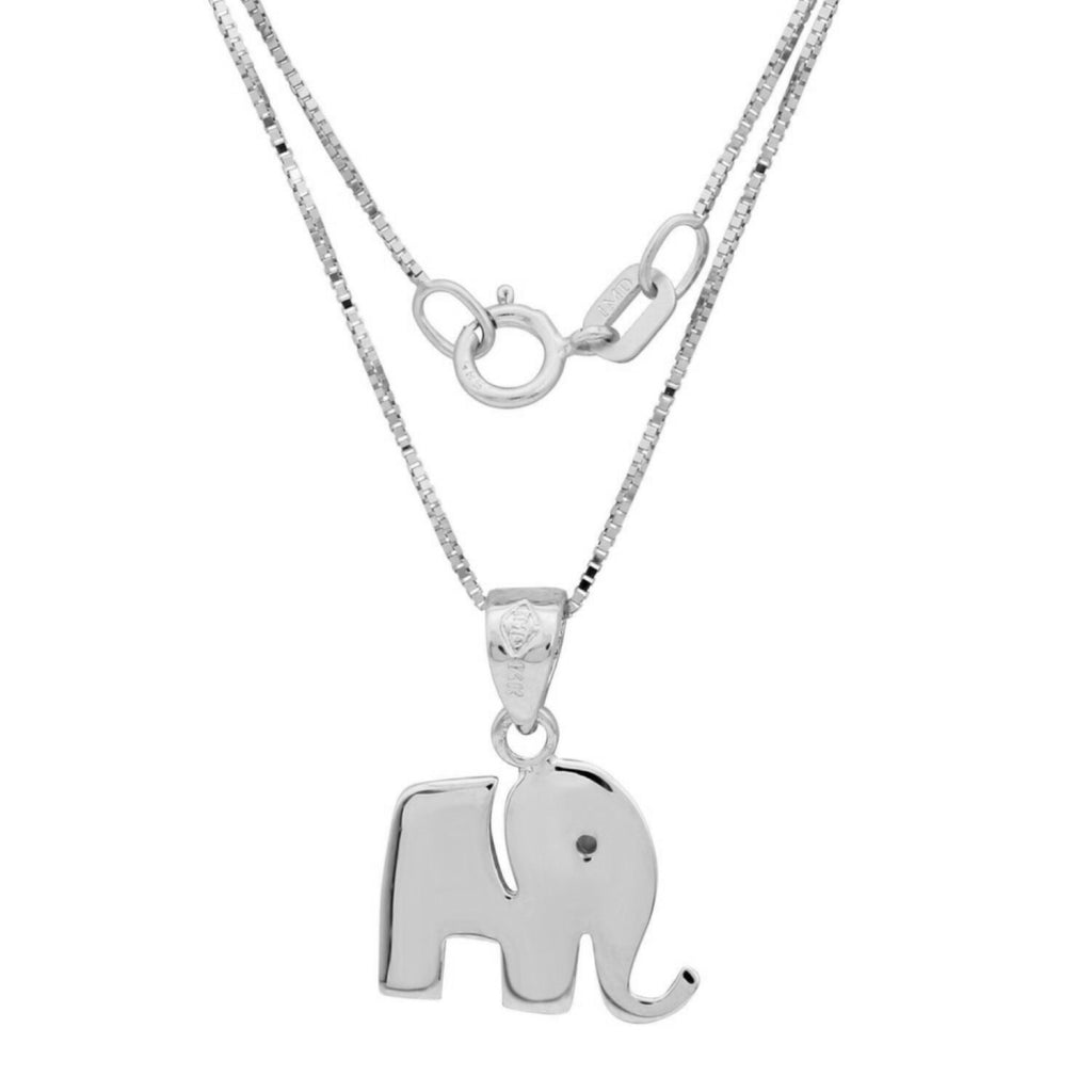 14k Gold Elephant Pendant Necklace, 18""