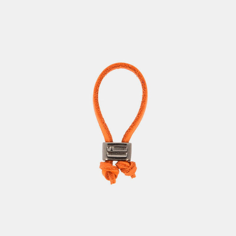 Keychain Jeroboam Leather Orange/Metal