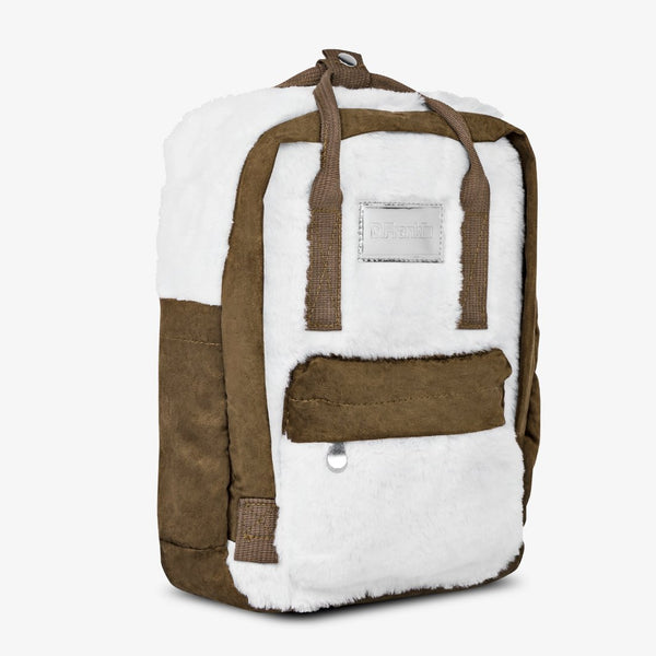 Abby Backpack Fur White / Camel