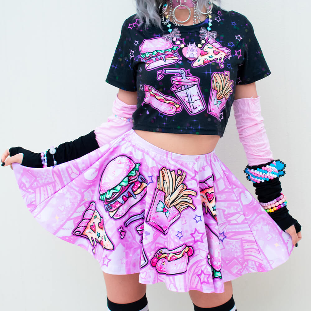 Pink Fast Food Skirt