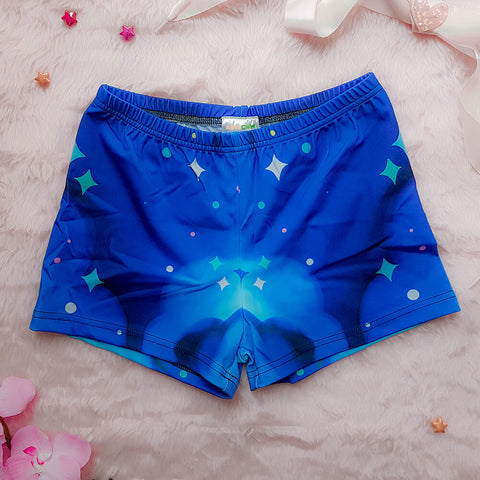 Blue Galaxy Booty Shorts