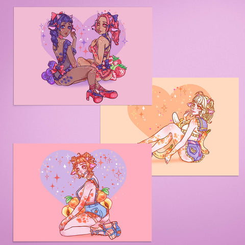 Flavwhored Cow Babes 3x Prints Bundle