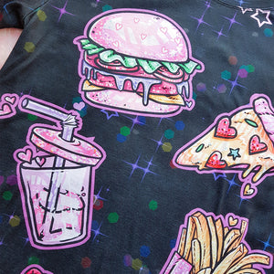 products/Kawaii_Pink_Food_Black_T_Shirt_Closeup_-_Pastelaxy.jpg