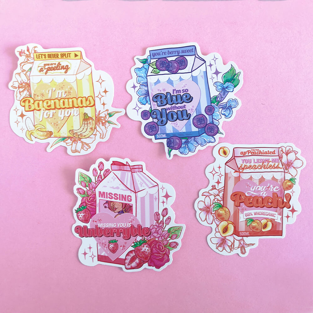 Flavoured Milk Sticker Set