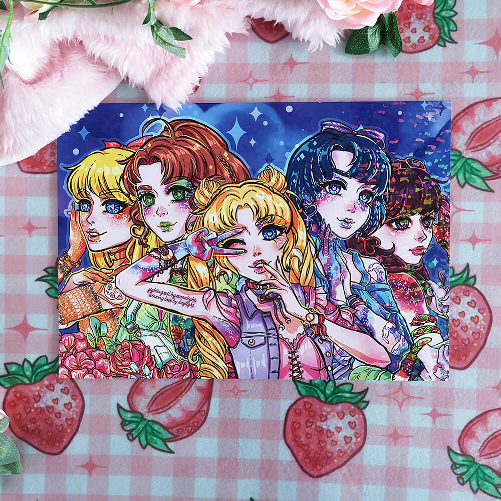 Sailor Moon Holographic Print