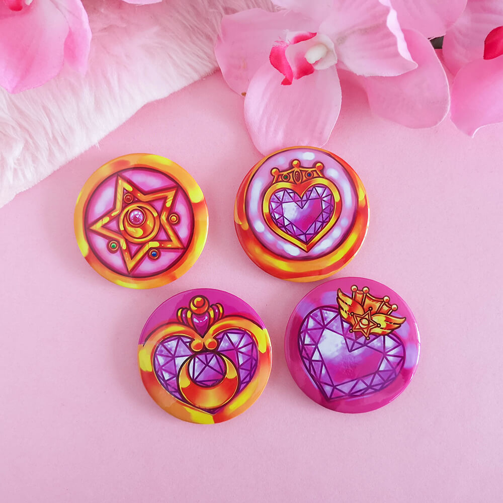 Sailor Moon Brooch Pin Badge Set