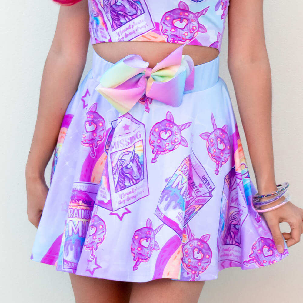 Rainbow Milk Skirt - Pink