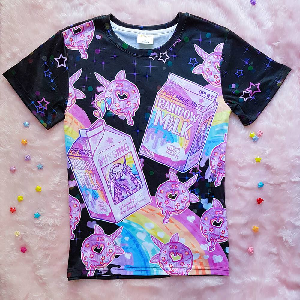 Unicorn Milk T-Shirt – Black