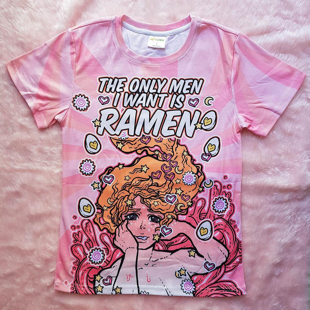 The only men I want is Ramen Shirt - Spicy (in stock)