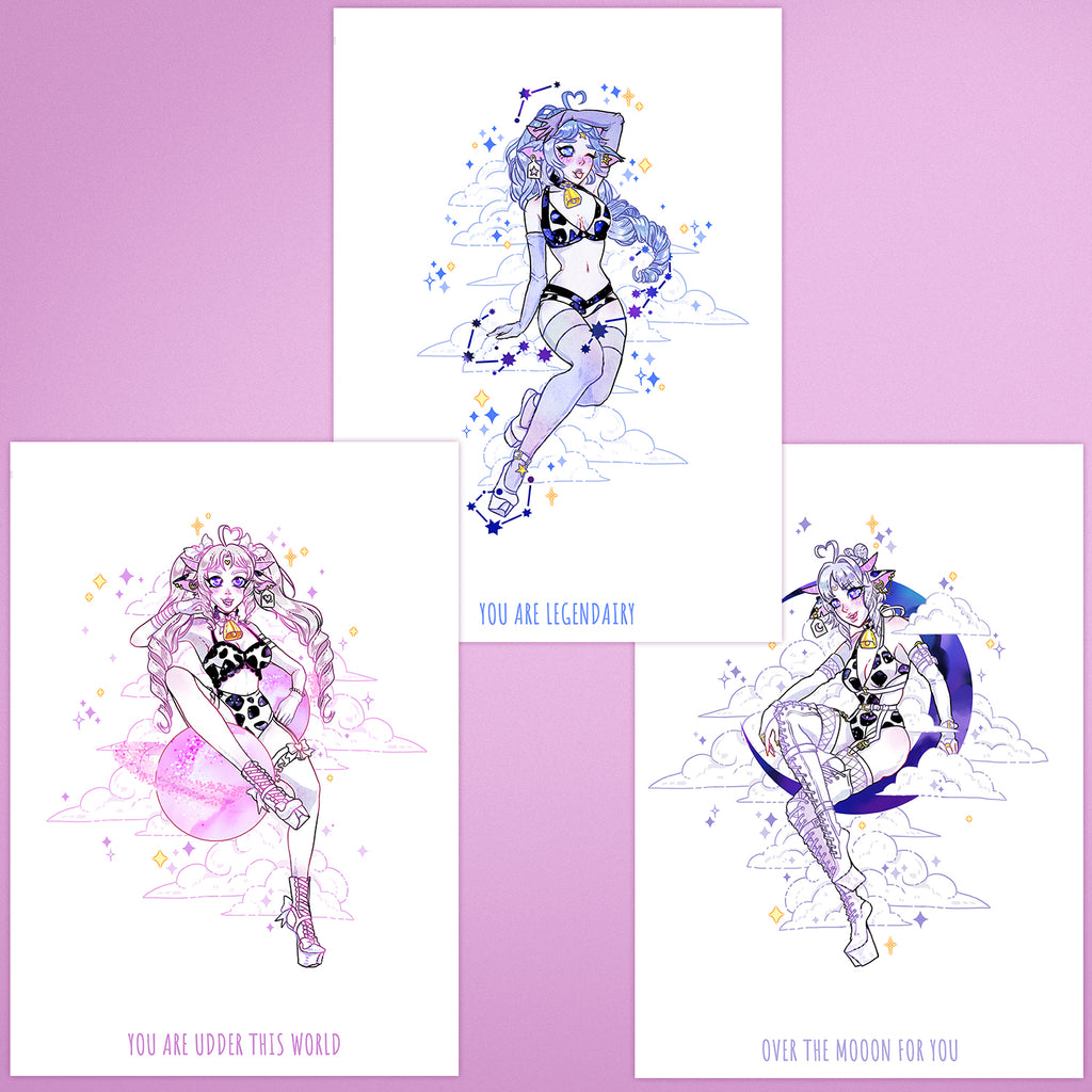 Magical Space Cow Girls - Prints Bundle