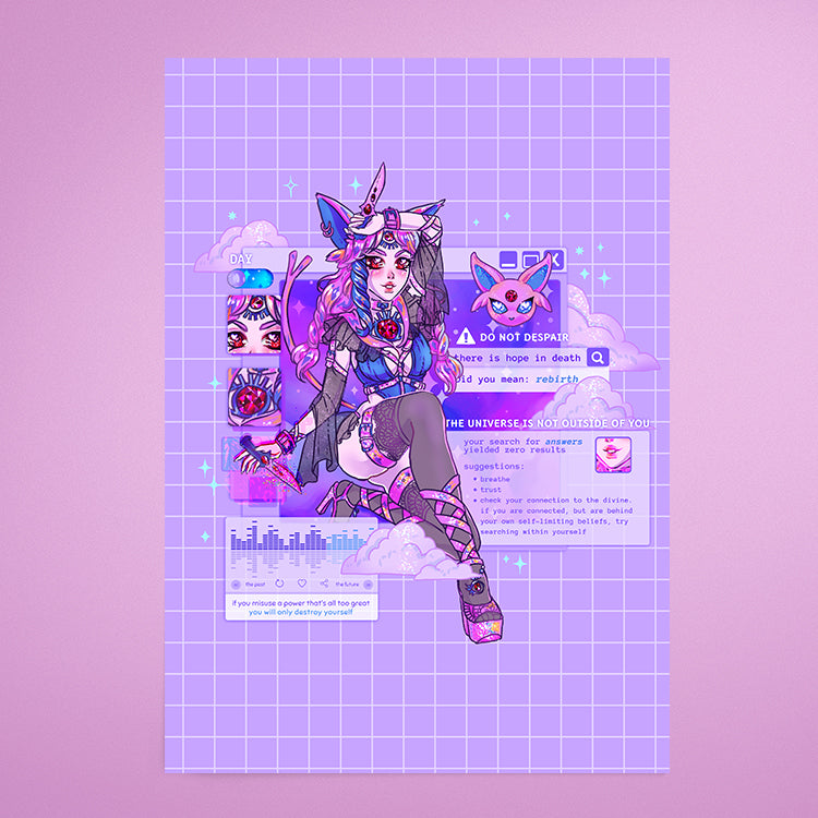Magical Girl Espeon 💜 - Print