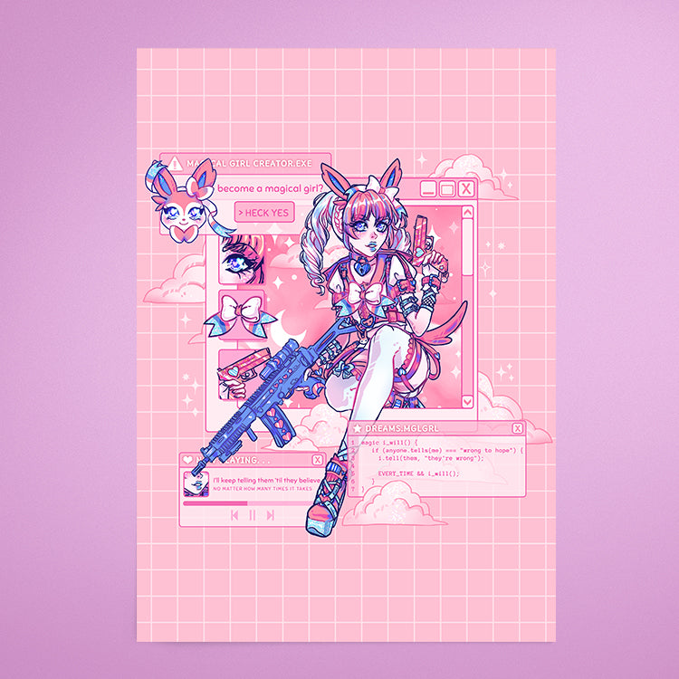Magical Girl Sylveon 💕 - Print
