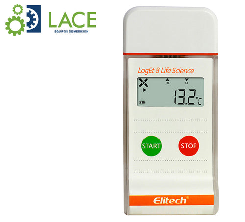 Termómetro Data Logger Elitech LogEt8 Life Science -30°C a 70°C