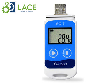 Termómetro Data Logger Elitech RC-5 -30°C a 70°C