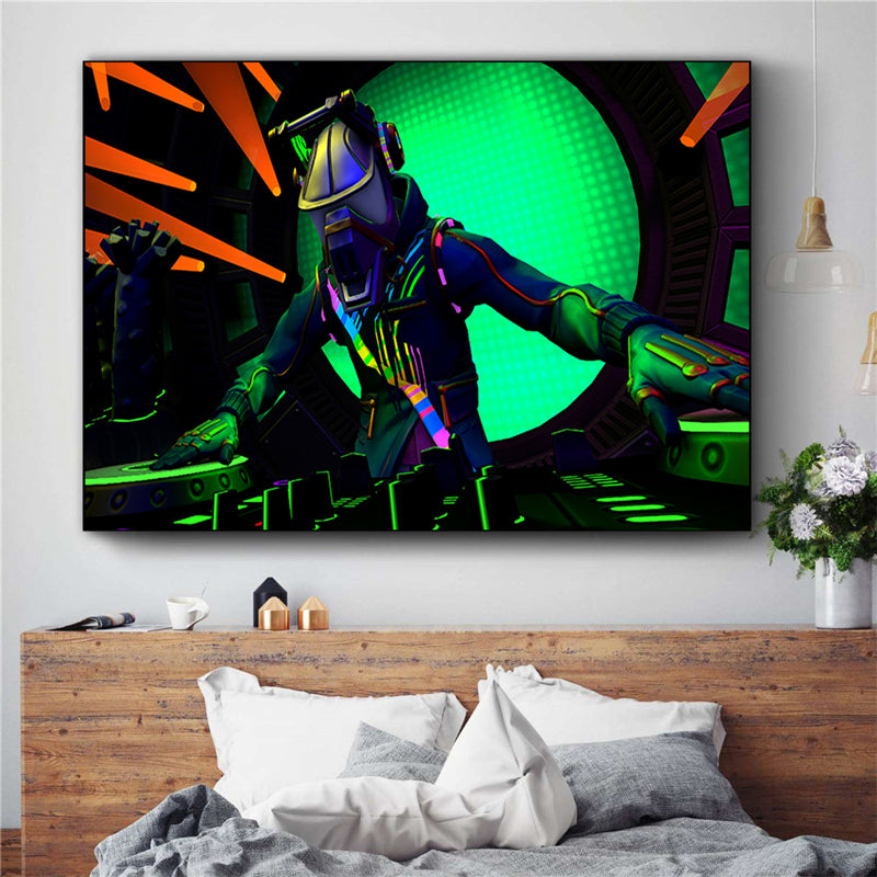 hot game fortnite battle royale poster canvas print wall
