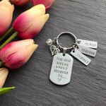 Hand stamped keyring for grandma