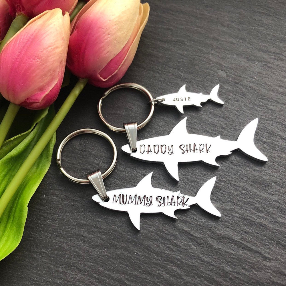 Daddy Shark Keyring