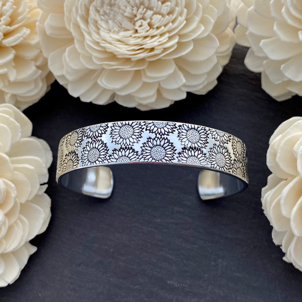 Sunflower Cuff Bracelet