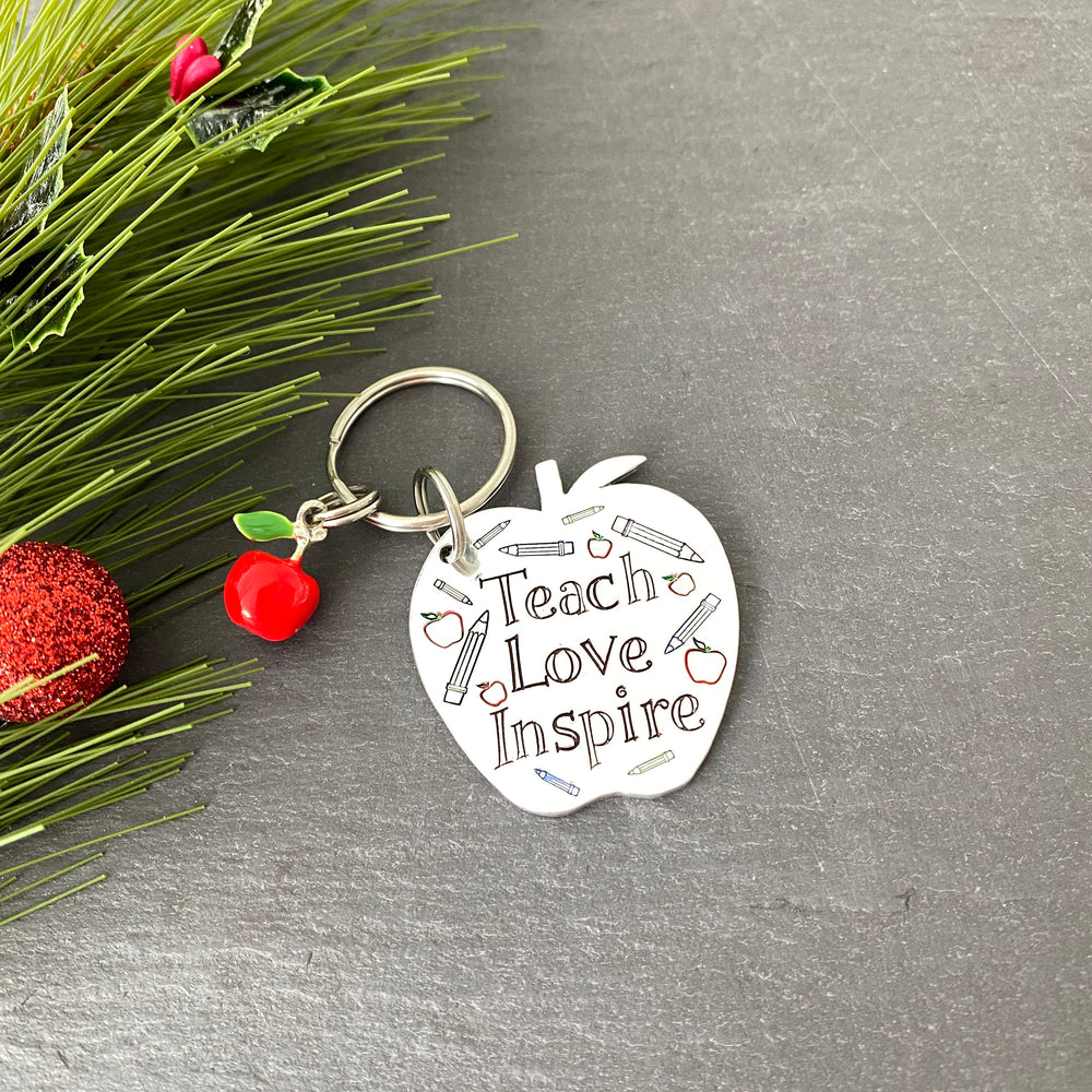 Teach, Love, Inspire keyring