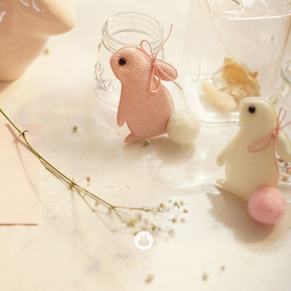Sweet Bunny Hairpin - Blush Pink - Kiko Kids
