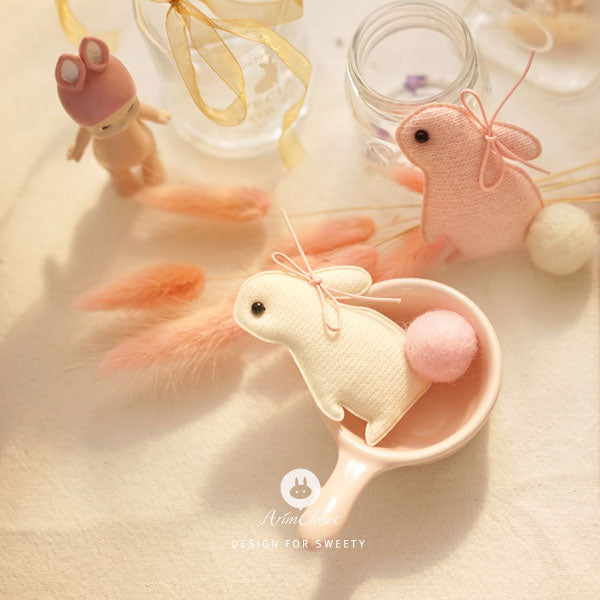 Sweet Bunny Hairpin - Cream White - Kiko Kids