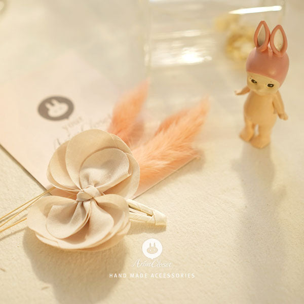 Flower Fun Butterfly Hairpin - Beige - Kiko Kids