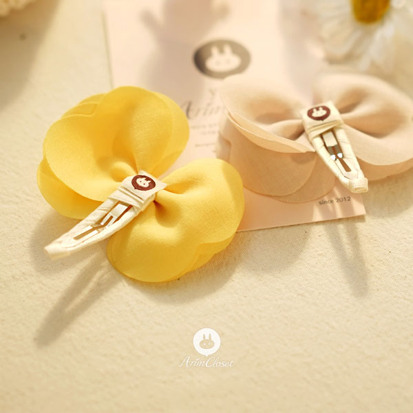 Flower Fun Butterfly Hairpin - Sunny Yellow - Kiko Kids