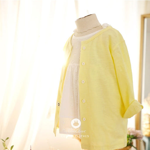 Let the Sun Shine Cardigan - Sunny Yellow - Kiko Kids