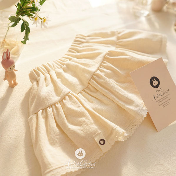 Dreamy Cream Skirt - Beige - Kiko Kids