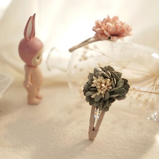 Fresh Flower Hairpin - Grey - Kiko Kids