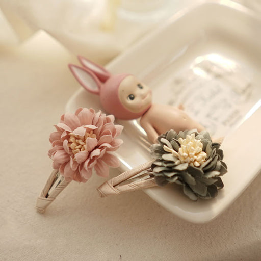 Fresh Flower Hairpin - Pastel Pink - Kiko Kids