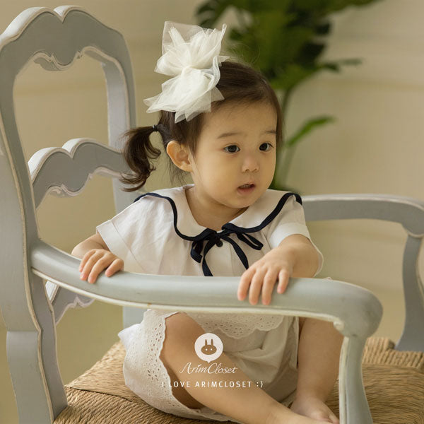 Cue the Spotlight Hairpin - Cream White - Kiko Kids