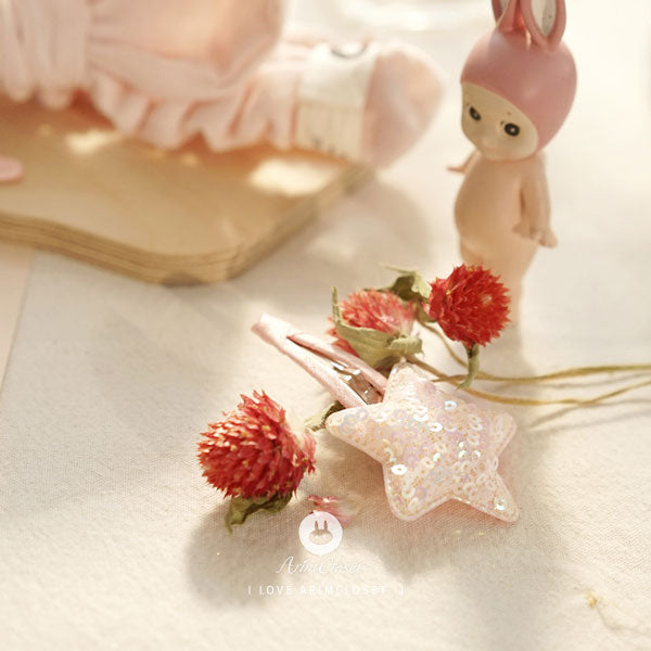 Shining Star Hairpin - Blush Pink - Kiko Kids