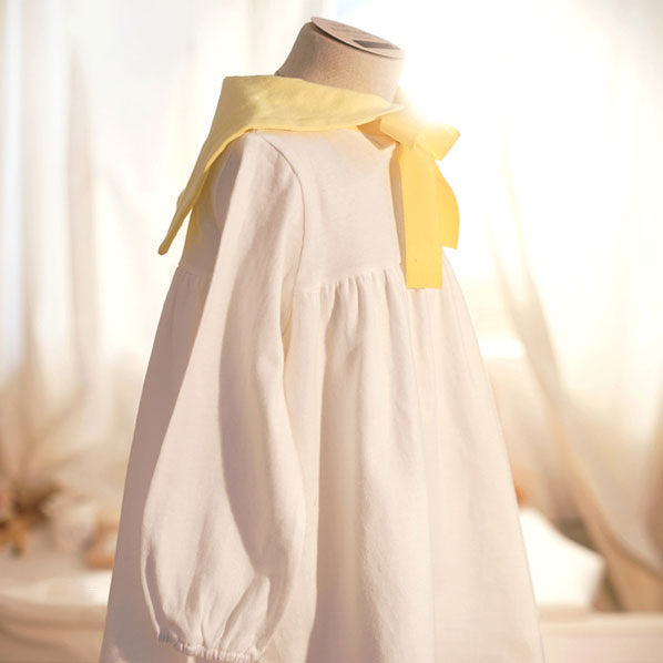 You Are My Sunshine Dress - White - Kiko Kids