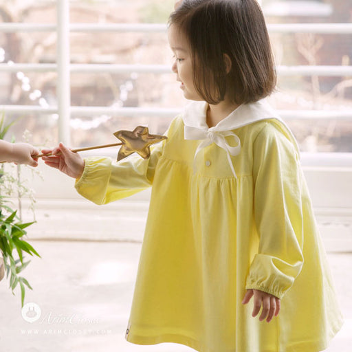 You Are My Sunshine Dress - Sunny Yellow - Kiko Kids