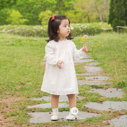 Timeless Class Dress - White - Kiko Kids