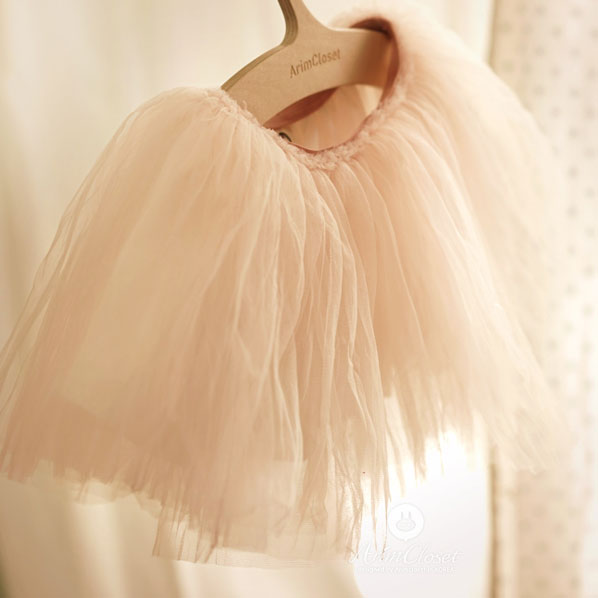 Tiny Tutu Tales Skirt - Blush Pink - Kiko Kids