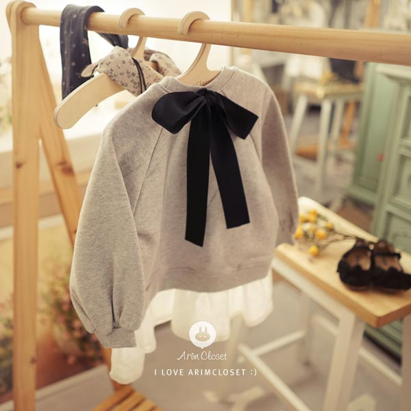 Pastel Princess Dress - Cloud Grey - Kiko Kids