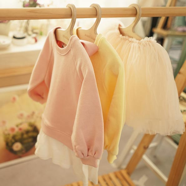 Pastel Princess Dress - Peach Pink - Kiko Kids