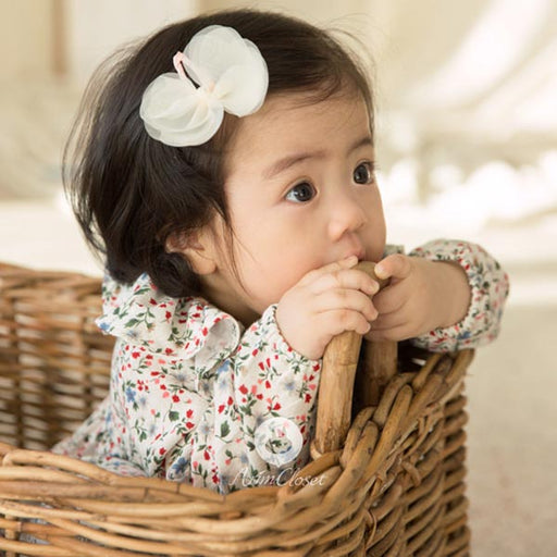Butterfly Magic Hairpin - Cream White - Kiko Kids