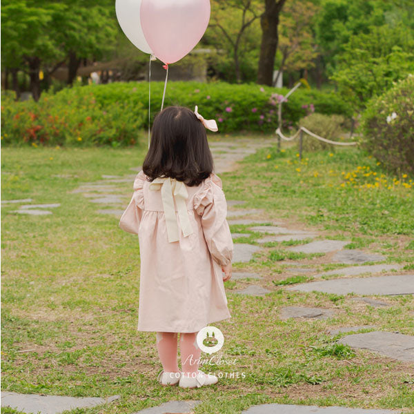 Funky Feminine Frock Dress - Blush Pink - Kiko Kids