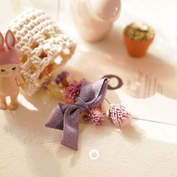 Lacy Ribbon Baby Hairpin - Violet - Kiko Kids