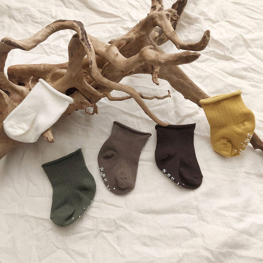 Plain Socks - Set of 5 - Kiko Kids