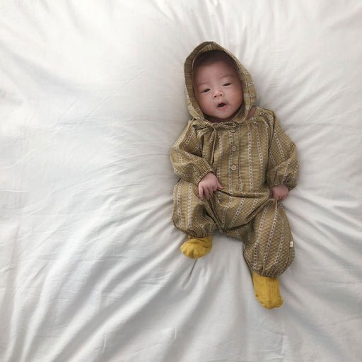 Retro Jumpsuit - Yellow - Kiko Kids