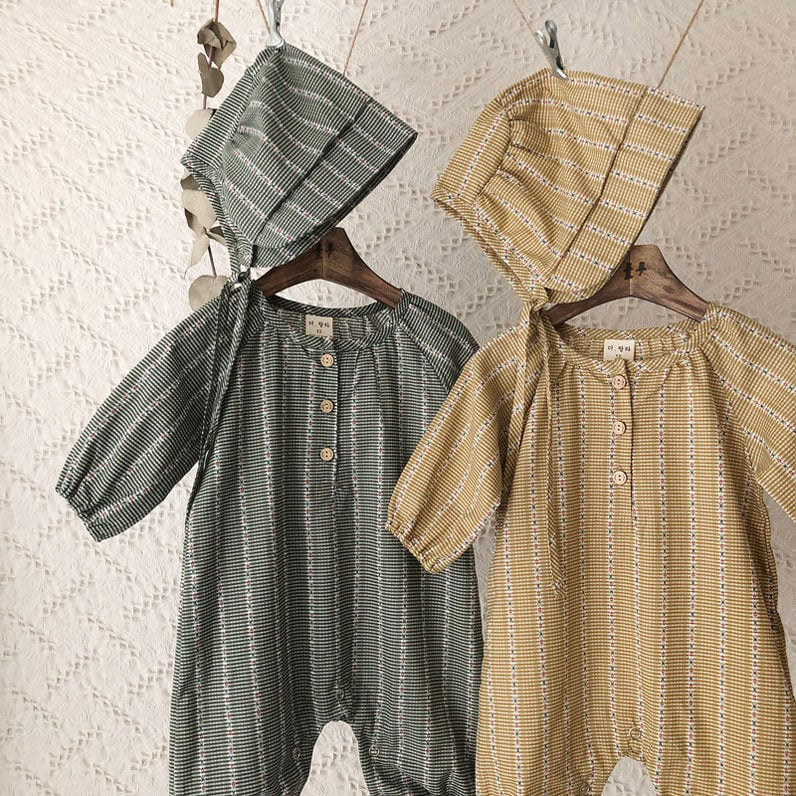 Retro Jumpsuit - Green - Kiko Kids