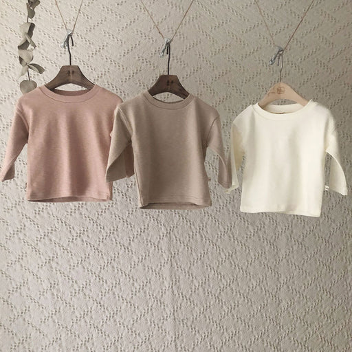 Top-Down T-Shirt - Beige - Kiko Kids