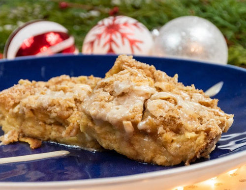 a Christmas eggnog bakerly French toast