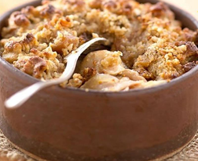 banana chocolate gratin